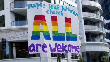 """America is backing gays and lesbians in """"religious freedom"""" fight, poll shows"""