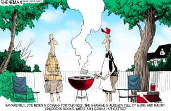 Political Cartoon U.S. fox news biden beef