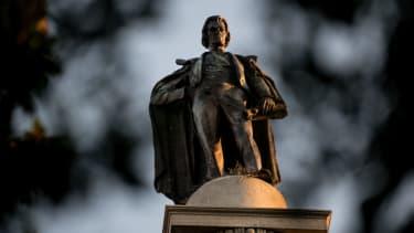 The statue of John C. Calhoun in Charleston.