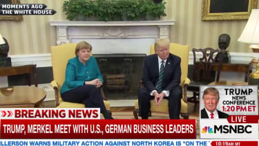 Angela Merkel and President Trump.