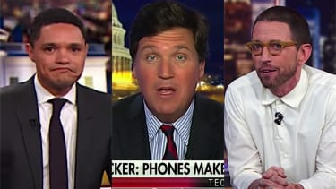 Fox News' Tucker Carlson and The Daily Show agree that smart phones are awful
