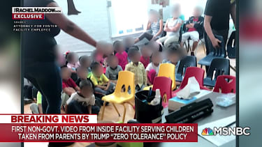 Footage from inside a facility housing separated migrant girls, via MSNBC