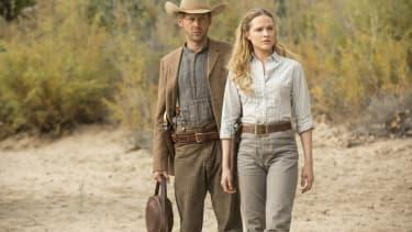 Jimmi Simpson and Evan Rachel Wood star in Westworld.