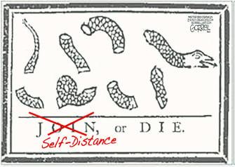 Editorial Cartoon U.S. Join or die snake colonies Franklin symbol