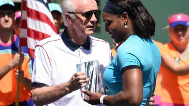 Raymond Moore and Serena Williams.
