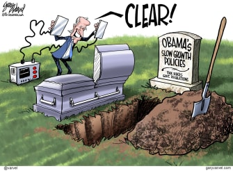 Political Cartoon U.S. Biden economic policy