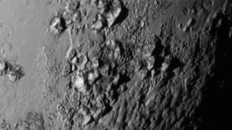 Surface of Pluto.