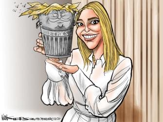 Political Cartoon U.S. Ivanka Trump Goya ethics