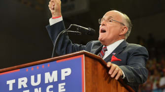 """Former New York City Mayor Rudy Giuliani defended Donald Trump's comments regarding the power that """"Second Amendment people"""" have over Hillary Clinton."""