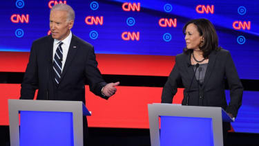 Former Vice President Joe Biden and Sen. Kamala Harris.