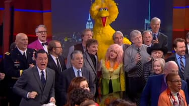 Bill Clinton, Neil deGrasse Tyson, James Franco join Stephen Colbert to sing 'We'll Meet Again' instead of 'goodbye'