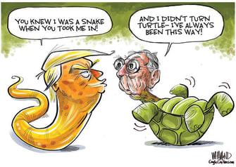 Political Cartoon U.S. Trump McConnell