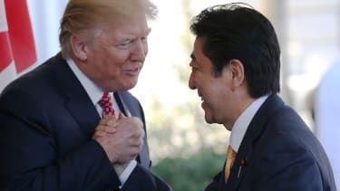 President Trump and Japanese PM Shinzo Abe