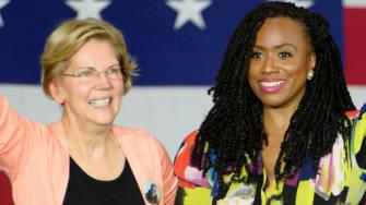 Sen. Elizabeth Warren and Rep. Ayanna Pressley.