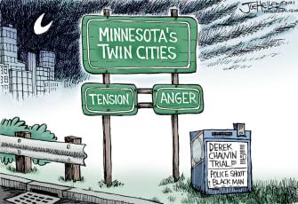 Editorial Cartoon U.S. minnesota police shootings chauvin floyd