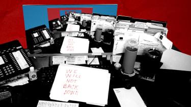 Nancy Pelosis desk.