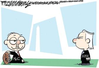 Political Cartoon U.S. Biden McConnell senate Peanuts