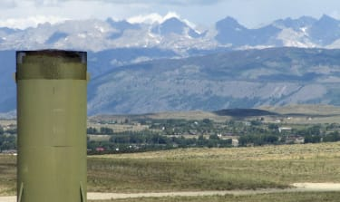 Gas production facility in Wyoming.