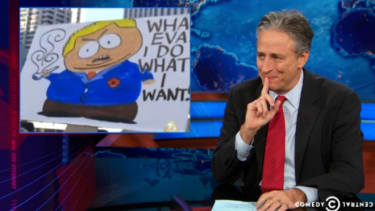 Jon Stewart sees a silver lining for Obama