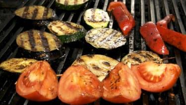 Vegetables grilling