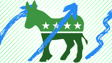 The Democratic logo.