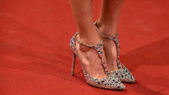 Jimmy Choos on the red carpet