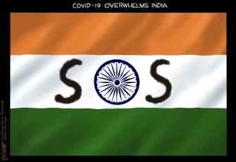 Editorial Cartoon U.S. covid india
