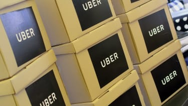 Boxes of Uber documents