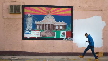 A mural of U.S.-Mexico cooperation