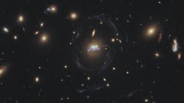 Beautiful 'beads on a string' captured in space by Hubble Telescope