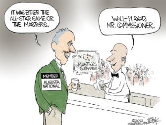 EditorialCartoon U.S. Georgia voting mlb masters manfred