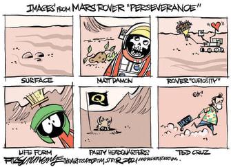 Editorial Cartoon U.S. mars rover perseverance