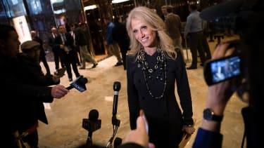 Kellyanne Conway speaks at Trump Tower