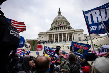 The pro-Trump mob at the Capitol on Jan. 6.