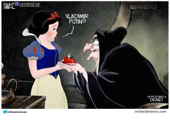 Political Cartoon U.S. Snow White Putin 2020 election