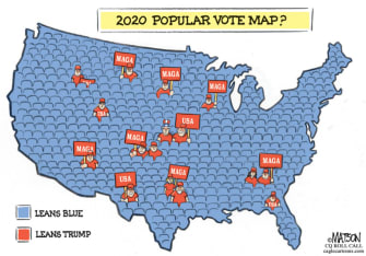 Political Cartoon U.S. Trump Tulsa rally 2020