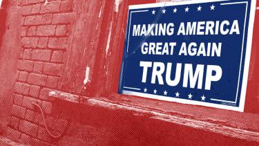 A Trump sign.