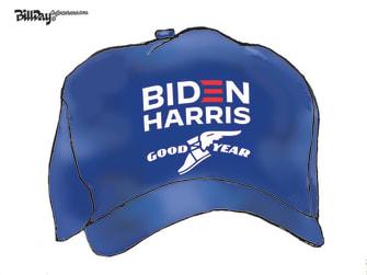 Political Cartoon U.S. Harris Biden Goodyear