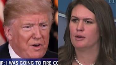 Trump and Sarah Huckabee Sanders talk Russia