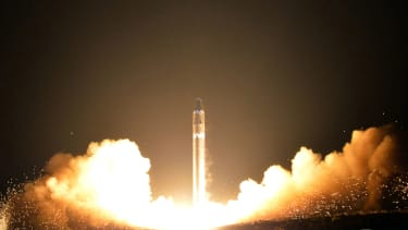 A North Korean missile launch.