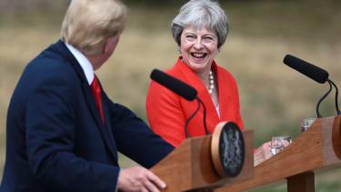 President Trump and Theresa May.
