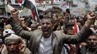 Anti-government protesters in Yemen: Some worry that the fall of many Arab governments will make it harder for the U.S. to hunt terrorists in the region.