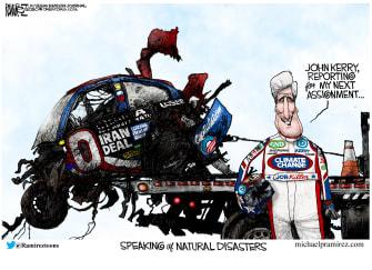 Political Cartoon U.S. John Kerry Iran Climate czar Biden