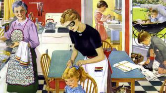 A domestic scene.