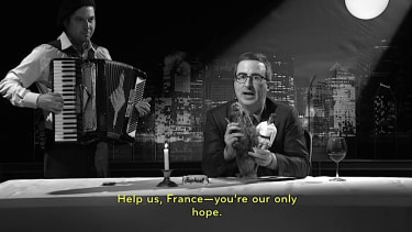 John Oliver pleads with France to reject Marine Le Pen
