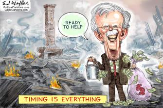Political Cartoon U.S. Bolton book