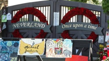 Neverland was festooned with fan memorials after Jackson's death.