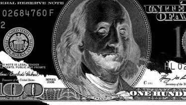 A one hundred dollar bill.