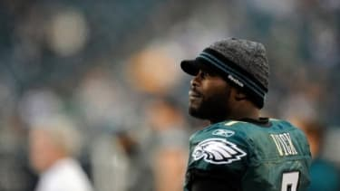 Philadelphia Eagles quarterback Michael Vick, still stained by the dogfighting scandal in his past, tops Forbes' list of America's most disliked athletes.