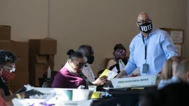 Vote counting in Atlanta.